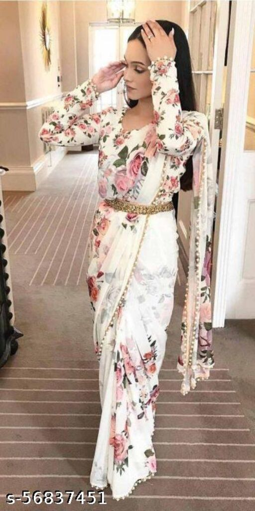 Banarasi Cotton Silk Kanjivaram Style Saree With Blouse Piece
