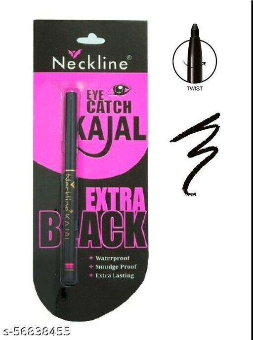 NECKLINE EYE CATCH EXTRA BLACK KAJAL