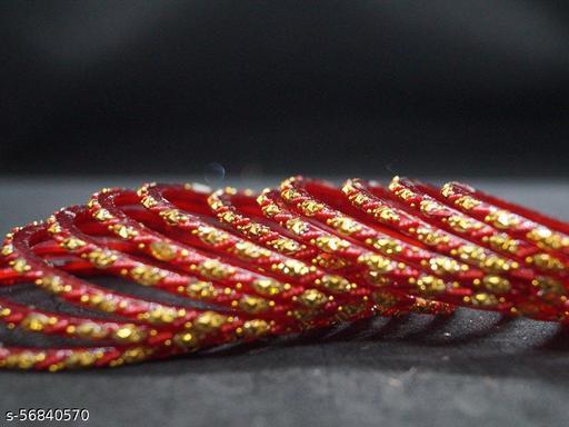 Agra KASHAF Red Glass Bangles