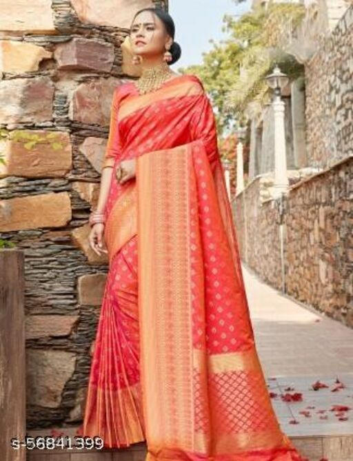 Women`s Georgette saree with unstiched Blouse