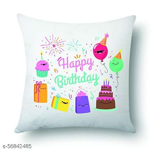 Jes Printed Cushion/ Pillow, Microfiber Filler(12x12)