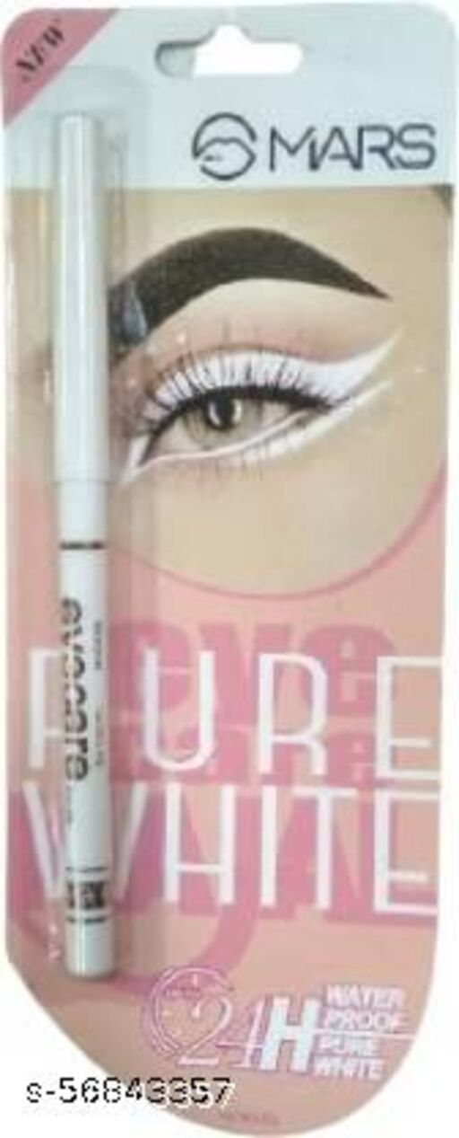 Mars pure white waterproof smudge free Eye liner