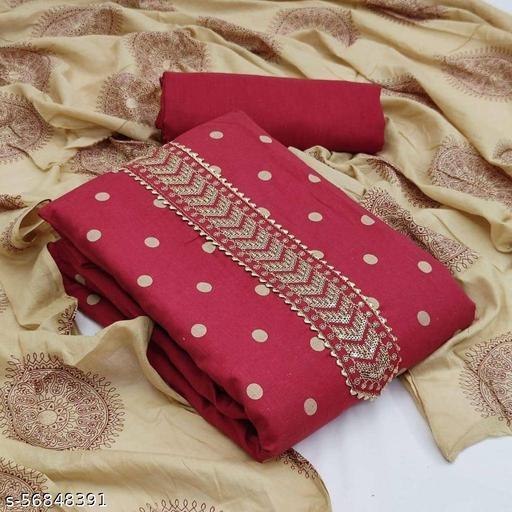 Imperial slub cotton printed dress material suits