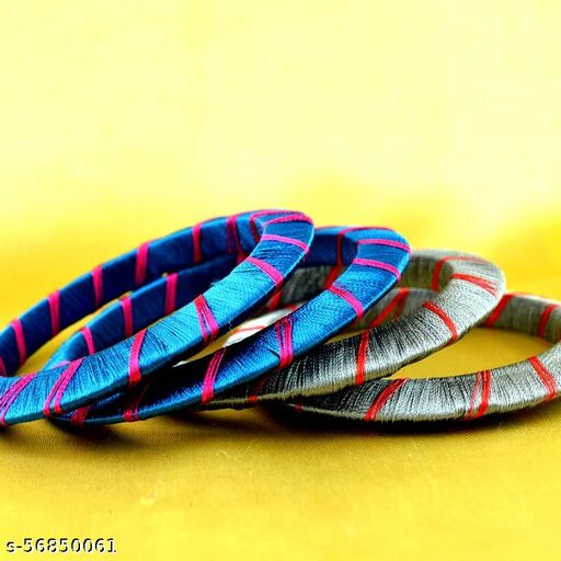 Handicraft silk bangle set New collection