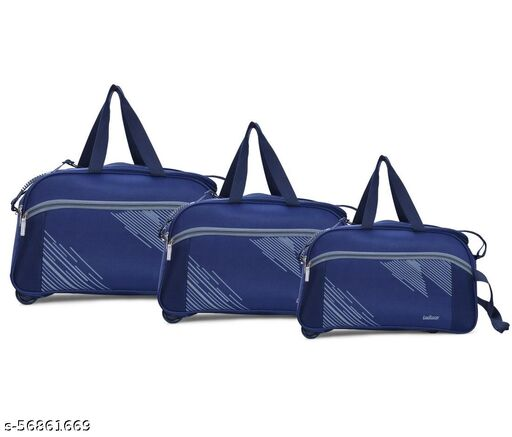 LeeRooy Polyester Trolley Duffle Bag for Travel   Lightweight Trolley Travel Duffle Bag   Luggage Bag with Trolley Duffle Bag    Duffel Soft Bag