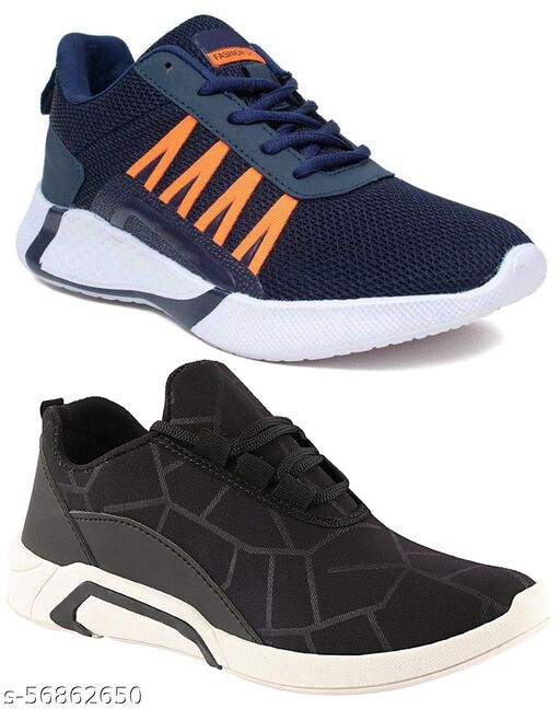 Cogs Comfortable Sylish Pack Of 2 Casual Sneakers Sports Running Shoes For Men