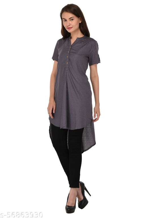 SVT ADA COLLECTIONS women's party wear Grey color stylish Top