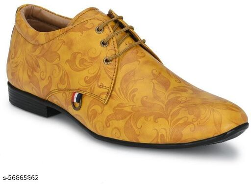 Peclo Beige Formal shoe Lace Up For Men(1012Beige)