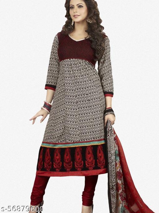 Aamna Shariff Printed Poly Cotton Anarkali:atisundar elegant Black Printed Ready to Stitch Anarkali - 6087_47_3012