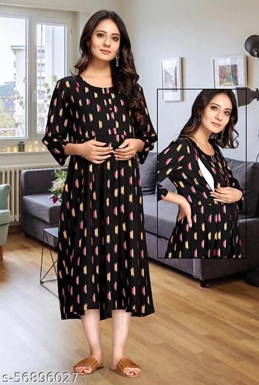 Fancy Women`s Maternity Dress