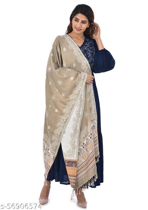100% Soft Viscose Reversible Woven Women's Shawls