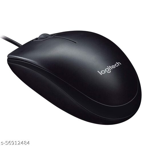 Logitech M90 Wired USB Mouse, 1000 DPI Optical Tracking, Ambidextrous PC/Mac/Laptop - Black