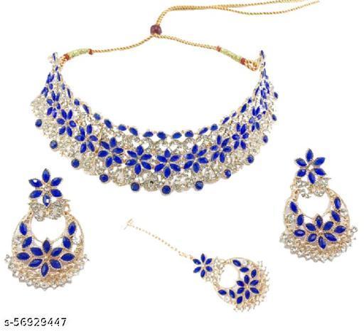 Crystal Jewel Set  (Blue)