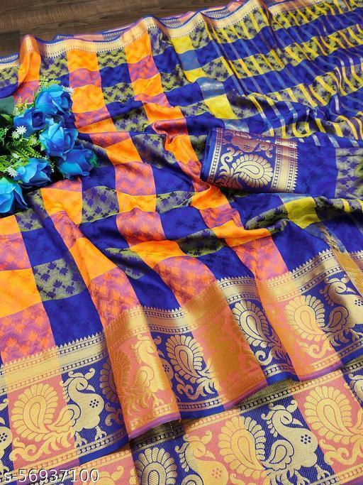 TAANI ENTERPRISE Women's Heavy Kashmira Self Weaving Upada Silk Jacquard Saree with Unstitched Blouse Piece