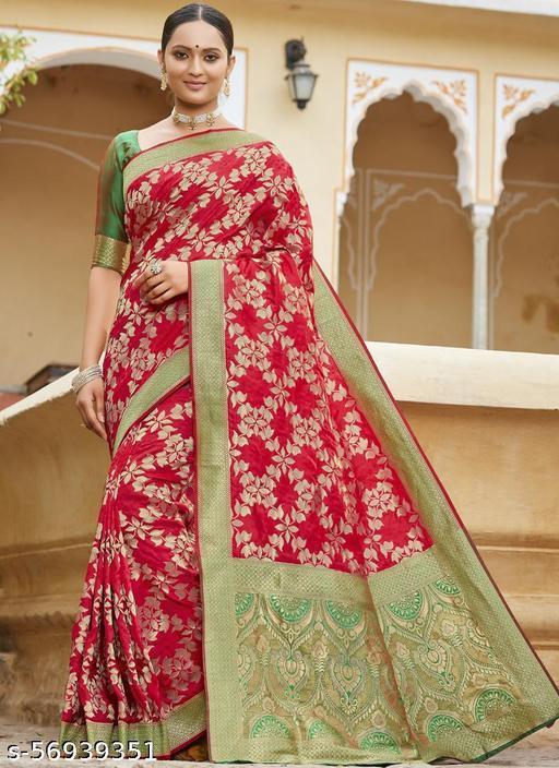 Red Party Wear Designer Karwa Chauth Sarees