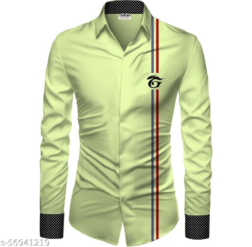 Indian Fashionista Men's Rayon Digital Printed Unstitched Shirt Fabric 1.5m ( Green )