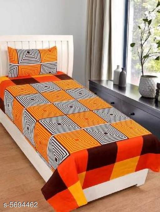 Trendy Poly Cotton 90X60 Single Bedhseets