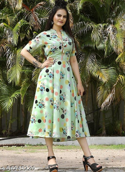Multi Color Heavy Georgette Dress