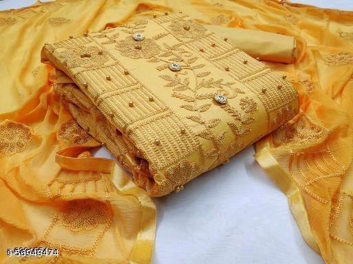 LAZZOLICA Women's Cotton Un-Stitched Dress Material