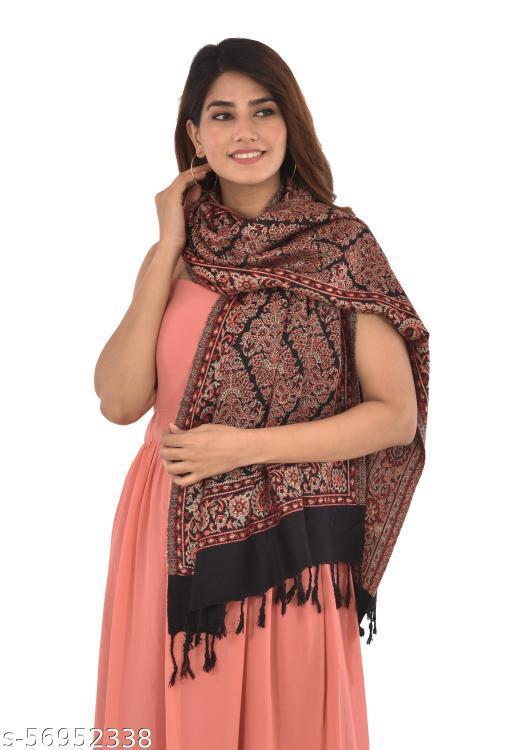 """Kashmiri Aari Embroided Floral Cashmilon Stoles, Shawls, Wraps (SIZE: 30"""" X 80"""")"""