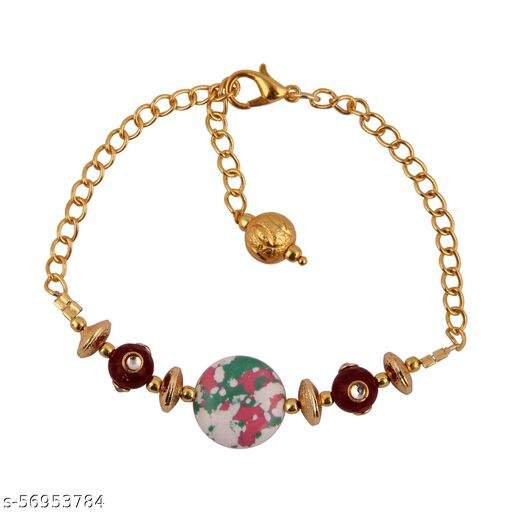 PearlzGallery Mosaic Beads Lobster Clasp 7.5 Inches Bracelet for Girls & Women