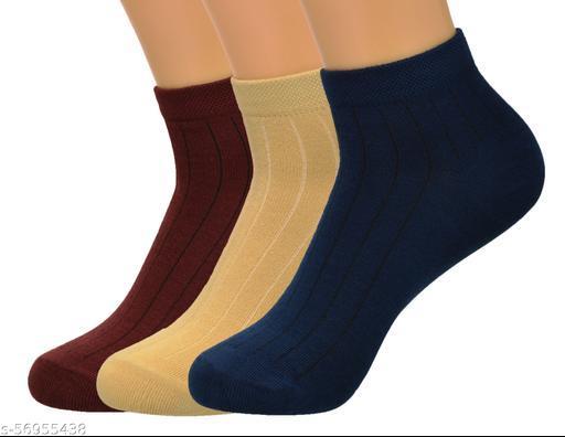 FF Trendy cotton Unisex Socks Pack of 3