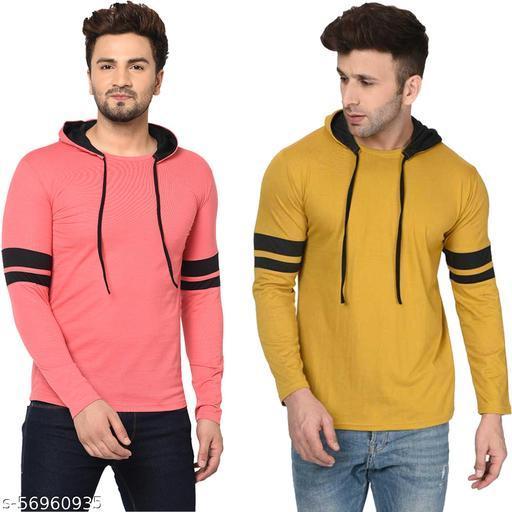 Tivy Men's Cotton Blend Full Sleeve Hooded Sweatshirt(Pack Of 2)