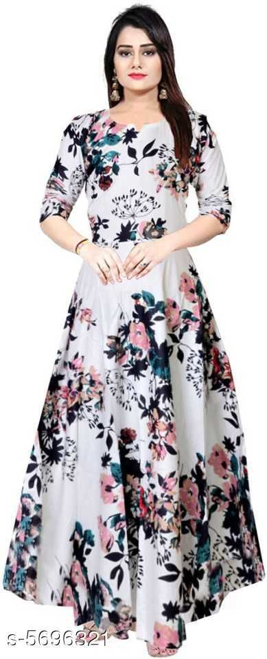 Gowns Trendy Women Stylish Gowns Fabric: Rayon Sleeve Length: Three-Quarter Sleeves Pattern: Printed Set Type: Single piece Stitch Type: Stitched Multipack: 1 Sizes:  M (Bust Size: 38 in, Length Size: 50 in)  L (Bust Size: 40 in, Length Size: 50 in)  XL (Bust Size: 42 in, Length Size: 50 in)   XXL (Bust Size: 44 in, Length Size: 50 in) Sizes Available: Free Size, M, L, XL, XXL, XXXL *Proof of Safe Delivery! Click to know on Safety Standards of Delivery Partners- https://ltl.sh/y_nZrAV3  Catalog Rating: ★4 (37923)  Catalog Name: Shardha Trendy Women Stylish long Gowns CatalogID_854863 C79-SC1289 Code: 863-5696321-