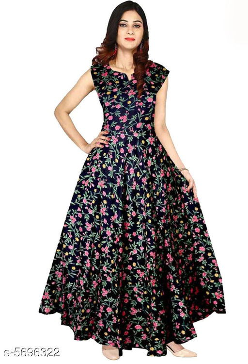 Gowns Trendy Women Stylish Gowns Fabric: Rayon Sleeve Length: Sleeveless  Pattern: Printed Set Type: Single piece Stitch Type: Stitched Multipack: 1 Sizes:  M (Bust Size: 38 in, Length Size: 50 in)  L (Bust Size: 40 in, Length Size: 50 in)  XL (Bust Size: 42 in, Length Size: 50 in)  XXL (Bust Size: 44 in, Length Size: 50 in) Sizes Available: Free Size, M, L, XL, XXL, XXXL *Proof of Safe Delivery! Click to know on Safety Standards of Delivery Partners- https://ltl.sh/y_nZrAV3  Catalog Rating: ★4 (37923)  Catalog Name: Shardha Trendy Women Stylish long Gowns CatalogID_854863 C79-SC1289 Code: 373-5696322-