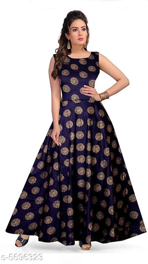 Gowns Trendy Women Stylish Gowns Fabric: Rayon Sleeve Length: Sleeveless  Pattern: Printed Set Type: Single piece Stitch Type: Stitched Multipack: 1 Sizes:  M (Bust Size: 38 in, Length Size: 50 in)  L (Bust Size: 40 in, Length Size: 50 in)  XL (Bust Size: 42 in, Length Size: 50 in)   XXL (Bust Size: 44 in, Length Size: 50 in) Sizes Available: Free Size, M, L, XL, XXL *Proof of Safe Delivery! Click to know on Safety Standards of Delivery Partners- https://ltl.sh/y_nZrAV3  Catalog Rating: ★4 (37923)  Catalog Name: Shardha Trendy Women Stylish long Gowns CatalogID_854863 C79-SC1289 Code: 933-5696323-