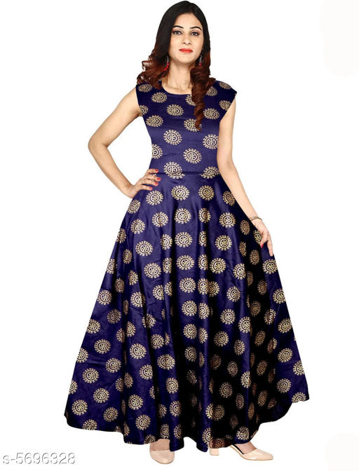Gowns Trendy Women Stylish Gowns Fabric: Rayon Sleeve Length: Sleeveless  Pattern: Printed Set Type: Single piece Stitch Type: Stitched Multipack: 1 Sizes:  M (Bust Size: 38 in, Length Size: 50 in)  L (Bust Size: 40 in, Length Size: 50 in)  XL (Bust Size: 42 in, Length Size: 50 in)   XXL (Bust Size: 44 in, Length Size: 50 in) Sizes Available: Free Size, S, M, L, XL, XXL *Proof of Safe Delivery! Click to know on Safety Standards of Delivery Partners- https://ltl.sh/y_nZrAV3  Catalog Rating: ★4 (37923)  Catalog Name: Shardha Trendy Women Stylish long Gowns CatalogID_854863 C79-SC1289 Code: 863-5696328-