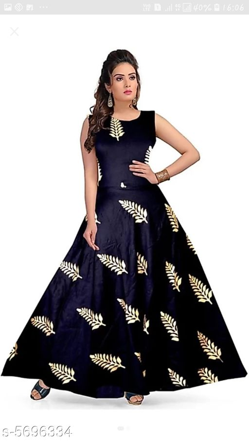 Gowns Trendy Women Stylish Gowns Fabric: Rayon Sleeve Length: Sleeveless  Pattern: Printed Set Type: Single piece Stitch Type: Stitched Multipack: 1 Sizes:  M (Bust Size: 38 in, Length Size: 50 in)  L (Bust Size: 40 in, Length Size: 50 in)  XL (Bust Size: 42 in, Length Size: 50 in)   XXL (Bust Size: 44 in, Length Size: 50 in) Sizes Available: Free Size, M, L, XL, XXL *Proof of Safe Delivery! Click to know on Safety Standards of Delivery Partners- https://ltl.sh/y_nZrAV3  Catalog Rating: ★4 (37923)  Catalog Name: Shardha Trendy Women Stylish long Gowns CatalogID_854863 C79-SC1289 Code: 373-5696334-