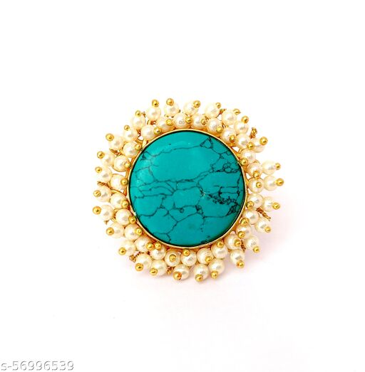 Beautiful Antique Adjustable Finger Rings With Semiprecious Stone