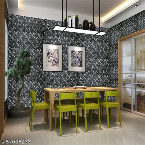 Wall 3D Ceiling Wallpaper Tiles Panel Vinyl Stickers Self-Adhesive for Home (Black)