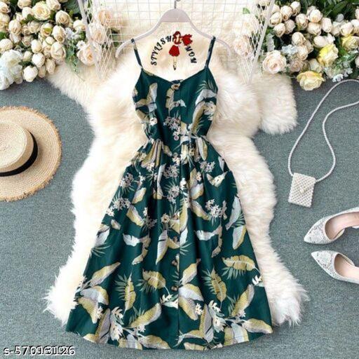 DGee Women's Crepe Dress Sleeveless