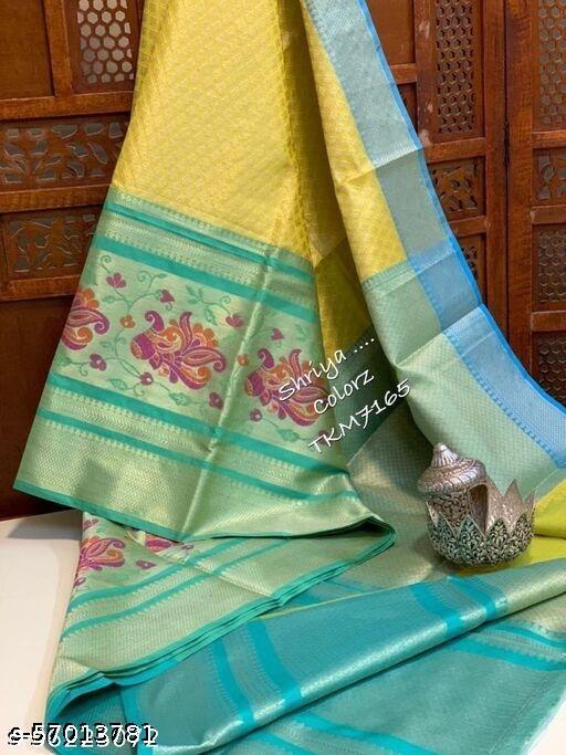 New tissue bridle saree