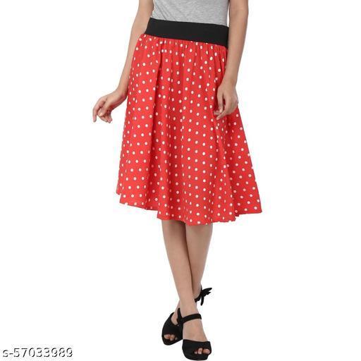 Women Red Straight Skirt