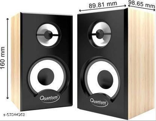 QUANTUM QHM636 6 W Portable Laptop/Desktop Speaker  (Brown & Black, 2.0 Channel)