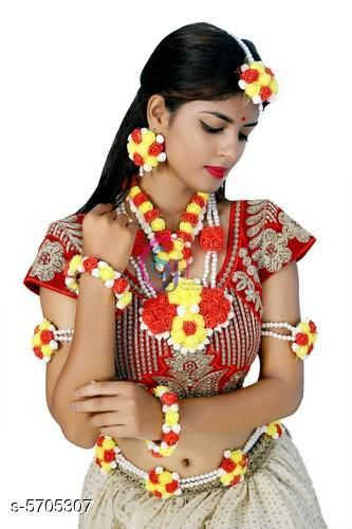 Jewellery Set Stylish Women's Jewellery Set  *Base Metal* Artificial Foam Flowers  *Type* Jewellery Set  *Multipack* 1  *Sizes Available* Free Size *    Catalog Name: Princess Elegant Jewellery Sets CatalogID_856431 C77-SC1093 Code: 364-5705307-