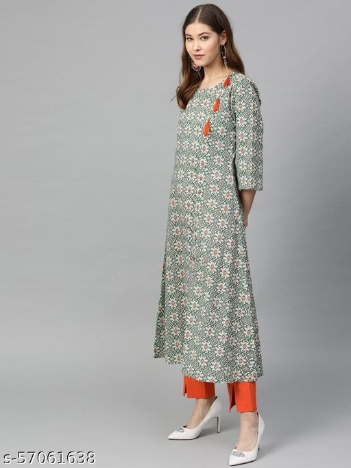 Women's Anarkali Printed Kurti