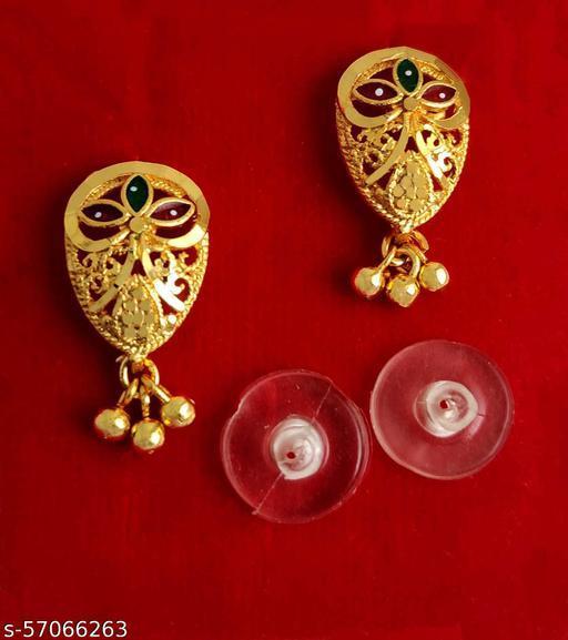 Fancy stylish Gold plated Golden Jhumka/jhala earring Gold Design (MG553 J)