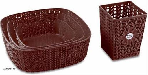 Useful Plastic Basket(Pack Of 4)