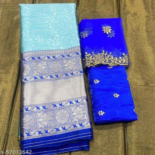 ROSE VILLA HALF SAREE LEHGHA CHOLI(Pure tissue paitani weaving Lehangas ,with contrast blouse and contrast cut work voni)