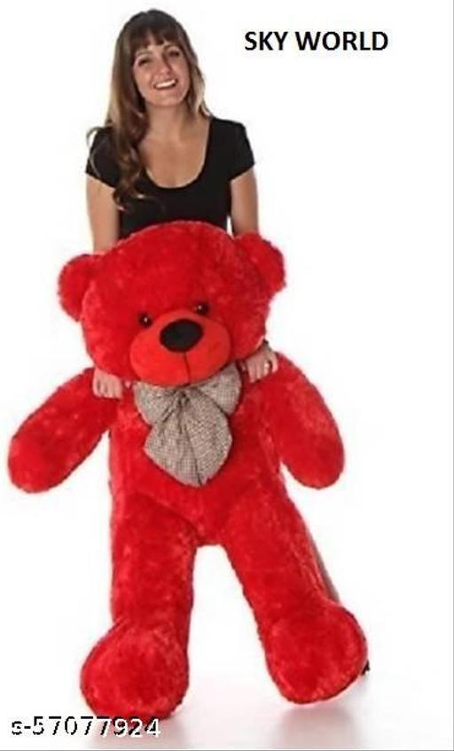 Meesho India Soft Material 3 Feet Very Soft Lovable//Spongy Huggable Cute Teddy Bear for /Birthday Gift/Boy/Girl/Valentine/Anniversary