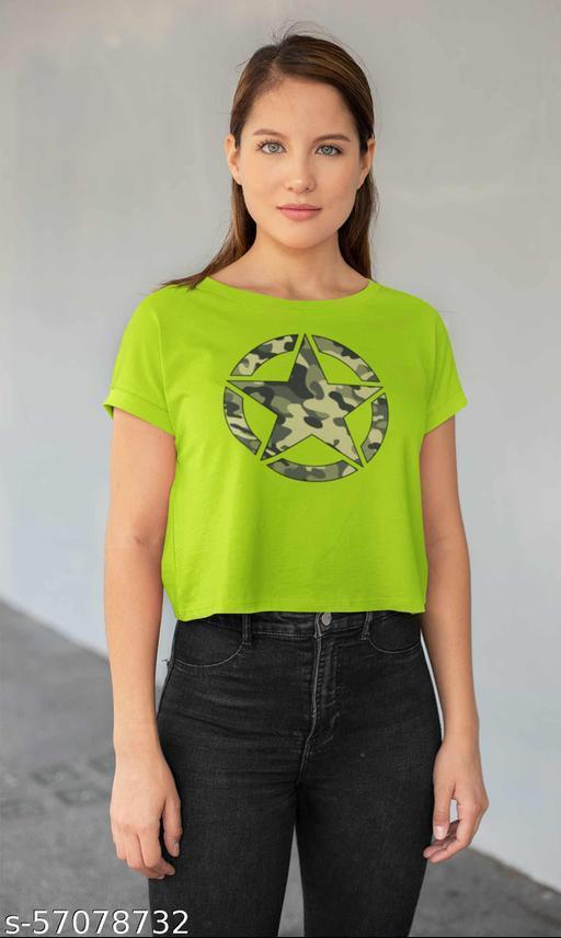 Camouflage Star Women Crop Top