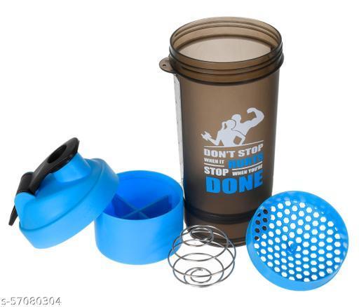 Kuber Industries 800 ML Shaker Bottle - BPA Free & Leakproof - Classic Protein Mixer Shaker Bottle (Blue)
