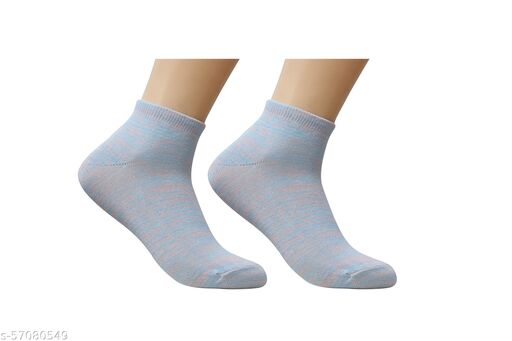 Colorful Pure Cotton Ankle Length Socks For  Women1