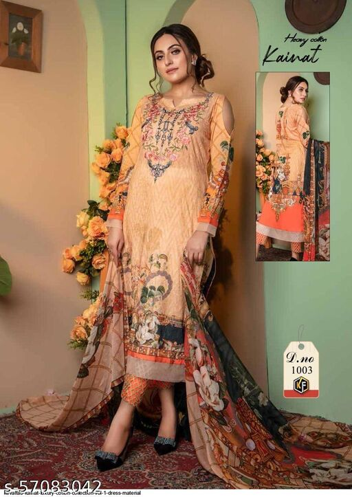 KEVALFAB KAINAT LUXURY COTTON COLLECTION VOL 1 DRESS MATERIAL