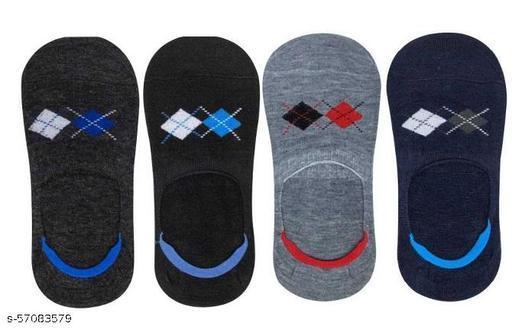 Mens-Boys 54 Loafer/Low Cut Socks (Pack of 4 )