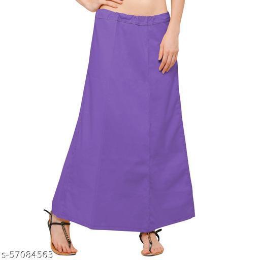 women's cotton petticoat purple free size